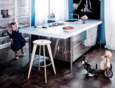 Итальянский кухонный остров 250-280 01 фабрики ALPES INOX