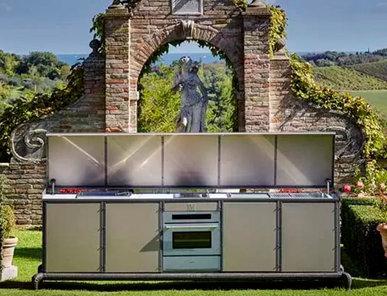 Итальянская кухня для улицы Linear kitchen with Automatic Cover фабрики DFN by Samuele Mazza