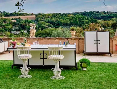 Итальянская кухня для улицы Linear Kitchen with Sliding Cover фабрики DFN by Samuele Mazza
