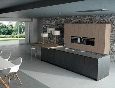 Итальянская кухня QUADRA + LINEA фабрики LINEAQUATTRO