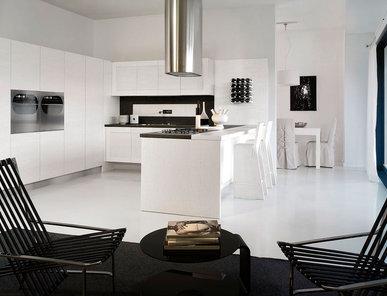Итальянская кухня Bianco Frassinato фабрики MOD'Art Cucine