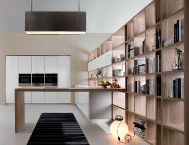 Итальянская кухня R1 Bruges Oak Lacquered Glossy White фабрики RASTELLI