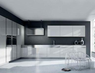 Итальянская кухня R1 Glossy White Glass фабрики RASTELLI