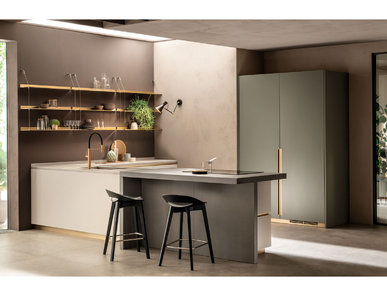 Итальянская кухня DeLinea 02 фабрики SCAVOLINI