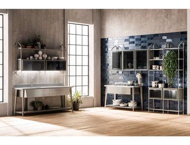 Итальянская кухня Diesel Open Workshop 08 фабрики SCAVOLINI