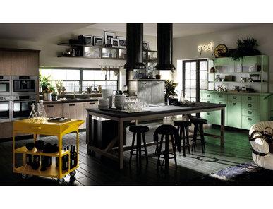 тальянская кухня Diesel Social Kitchen 03 фабрики SCAVOLINI