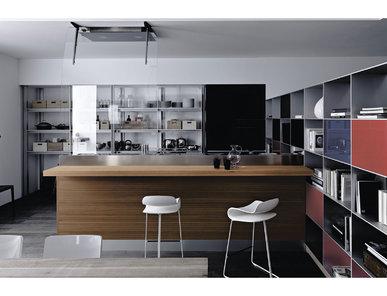 Итальянская кухня Artematica Vitrum Nero Lavagna фабрики VALCUCINE