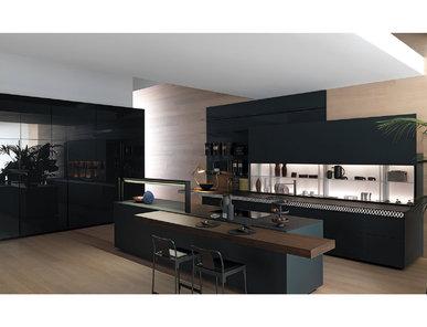 Итальянская кухня Genius Loci Vitrum opaco ardesia con V-Motion фабрики VALCUCINE