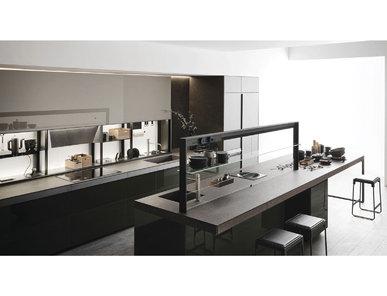 Итальянская кухня Genius Loci Vitrum lucido Verde Oceanico фабрики VALCUCINE