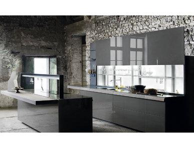 Итальянская кухня Genius Loci Vitrum lucido Terra фабрики VALCUCINE