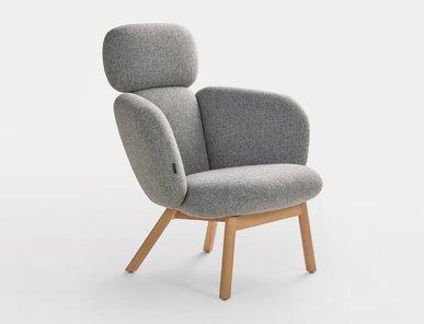 Кресло Bras Highback 4-legged wood фабрики ARTIFORT