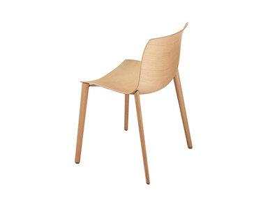Итальянский стул Catifa 46 4 wood legs фабрики ARPER