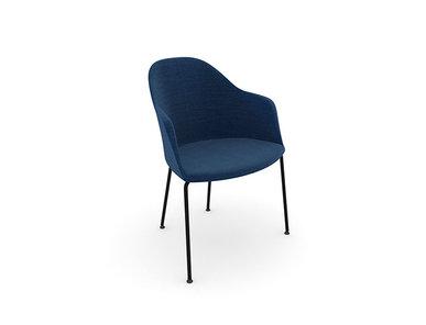 Итальянский стул с подлокотниками Cila 4 legs фабрики ARPER