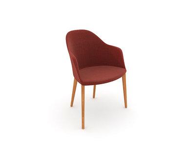 Итальянский стул с подлокотниками Cila 4 wood legs фабрики ARPER
