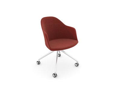 Итальянский стул с подлокотниками Cila Trestle fixed фабрики ARPER