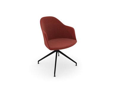 Итальянский стул с подлокотниками Cila Trestle Swivel фабрики ARPER