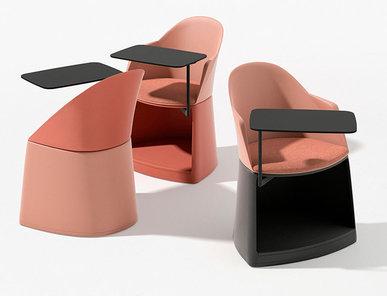 Итальянский стул с подлокотниками Cila Go with castors фабрики ARPER