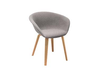 Итальянский стул Duna 02 4 wood legs фабрики ARPER