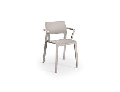 Итальянский стул с подлокотниками Juno Open backrest фабрики ARPER