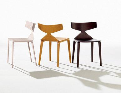 Итальянский стул Saya 4 wood legs фабрики ARPER