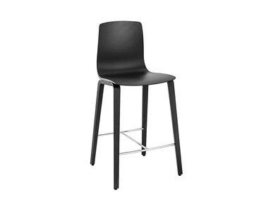 Итальянский барный стул Aava 4 wood legs 100cm фабрики ARPER