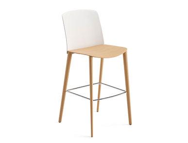 Итальянский барный стул Mixu 4 wood legs фабрики ARPER