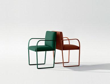 Итальянский стул с подлокотниками Arcos фабрики ARPER