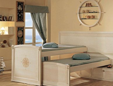 Итальянские двухъярусные кровати Vecchia Marina фабрики Caroti