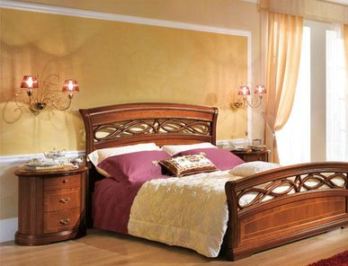 Итальянская двуспальная кровать Opera фабрика Tempor