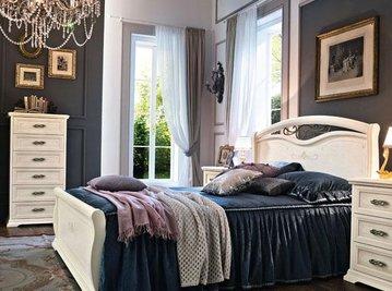 Итальянская односпальная кровать Afrodita фабрика Venier