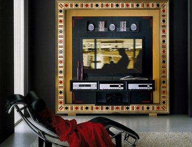 Итальянская мебель для ТВ из коллекции GLASS EYESS фабрики VISMARA DESIGN