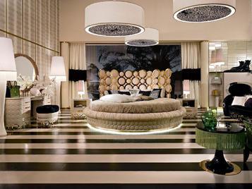 Итальянская круглая кровать Jaguar Golden фабрики Altamoda