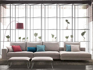 Итальянская мягкая мебель Freedom фабрики Biba Salotti