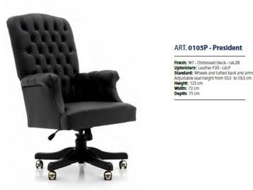Итальянские классические кресла для кабинета фабрики SEVENSEDIE.