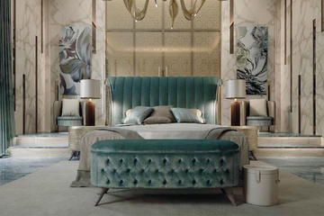 Итальянская спальня Luxury Project фабрики ELLEDUE Композиция 04