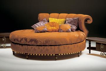 Итальянская круглая кровать Rokko фабрики ELLEDUE