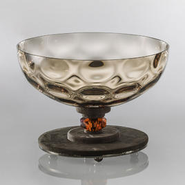 Итальянская ваза DAHLIA Centrepiece/Brown фабрики EUROLUCE LAMPADARI