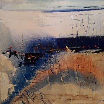 "Картина ""Ностальгия"",  80х90, холст, масло, Эльдар Кавшбая, 2016г."