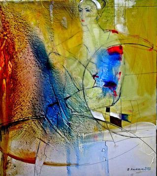 "Картина ""Гимнастка"",  80х90, холст, масло, Эльдар Кавшбая, 2015г."