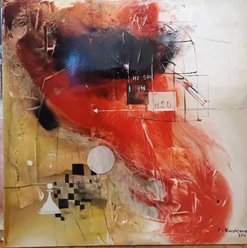 """Картина """"Память"""",  130х150, холст, масло, Эльдар Кавшбая, 2015г."""
