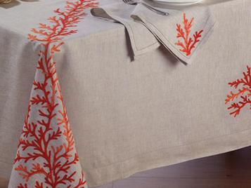 Итальянский столовый текстиль Corallo фабрики Ricam Art