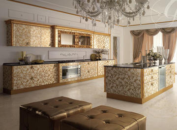 Итальянская кухня MAJESTIC ORO фабрики CONCRETA