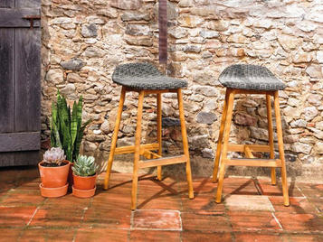 Испанский барный стул ROUND фабрики COLECCION ALEXANDRA