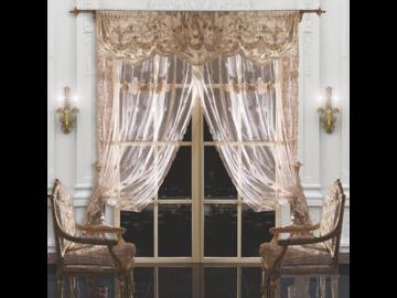 Итальянские шторы и тюли Caravaggio 001 фабрики La Contessinа