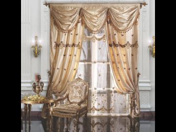 Итальянские шторы и тюли Caravaggio 002 фабрики La Contessinа