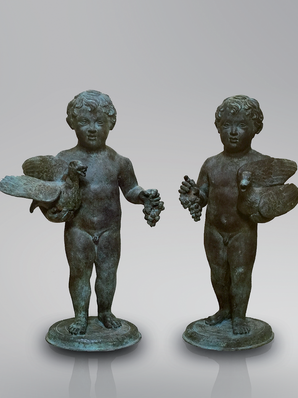 Итальянская бронзовая статуя Putti from the house of the Vettii at Pompeii фабрики Fonderia Artistica Ruocco