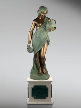 Итальянская бронзовая статуя Susanna with jugs фабрики Fonderia Artistica Ruocco