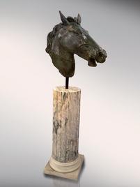 Итальянская бронзовая статуя Rotatable horse head фабрики Fonderia Artistica Ruocco