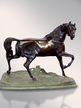 Итальянская бронзовая статуя French horse фабрики Fonderia Artistica Ruocco