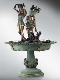 Итальянский бронзовый фонтан Water seller girl фабрики Fonderia Artistica Ruocco